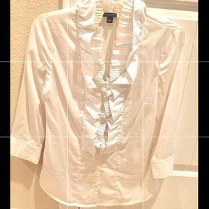 Anne Taylor White Shirt Size 4P